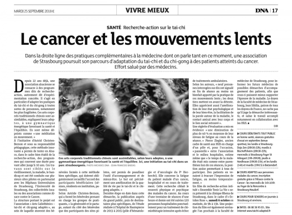 Article DNA : Le cancer et les mouvements lents